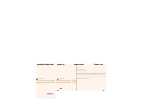 ESR Einzahlungsschein A4 orange ohne Falzhilfe  für Gemeinden und KMU's (Z220027)
