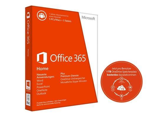 Microsoft Office 365 Home Jahreslizenz