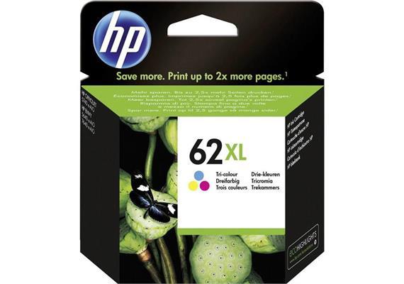HP Original-Patrone Nr. 62XL tricolor