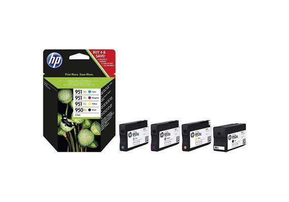 HP Original-Patrone Nr. 950XL black + 951XL farbig