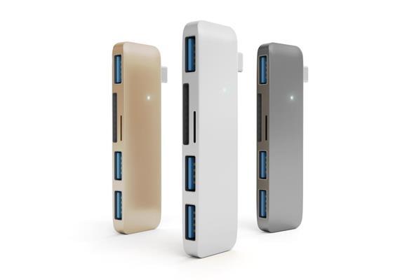 Satechi USB-C Combo Hub -Silber MBP 2016