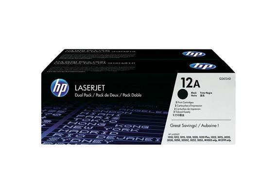 HP Original-Toner Q2612AD black, Doppelpack